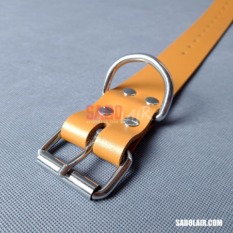Leather Bondage Belt 40mm Brown
