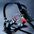 Leather Bdsm Gag With Harness Sadolair Collection
