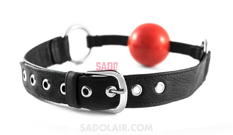 Soft Leather Mouth Gag Sadolair Collection