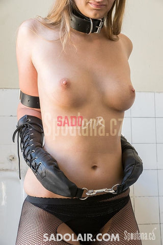 Long Leather Gloves Sadolair Collection