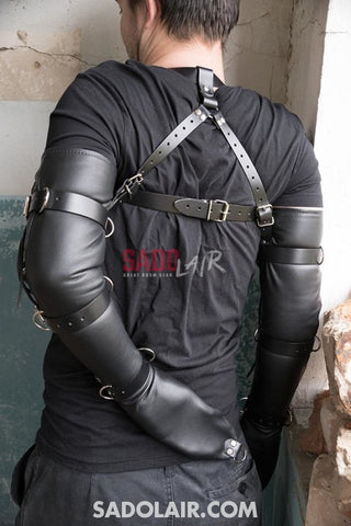 Leather Lacing Bdsm Sleeves Sadolair Collection