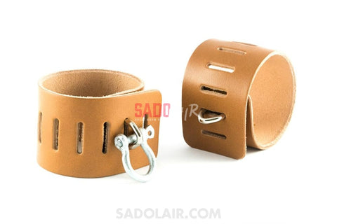Leather Cuffs Wrist - Simplex Brown Sadolair Collection