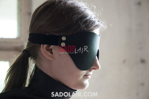 Leather Blindfold Sadolair Collection