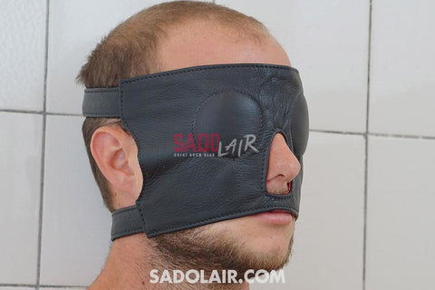 Leather Eyemask With Buckle Sadolair Collection