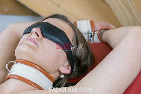 Leather Padded Eye Mask Ii Sadolair Collection