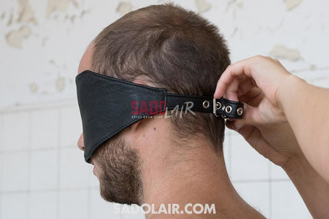 Leather Eyemask With Hole For Nose