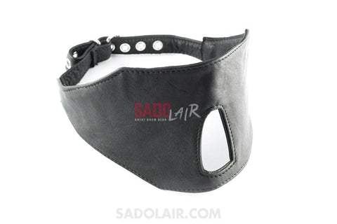 Leather Eye Mask Open Nose Sadolair Collection