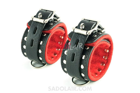 Decorated Leather Ankle Cuffs Sadolair Collection