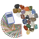 2 lbs Large Tumbled Polished Natural Gem Stones with Educational Rock Information Cards