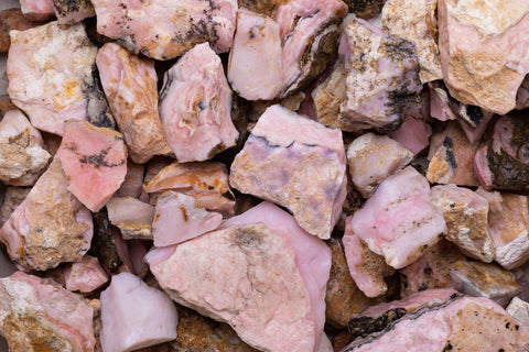 Rough Pink Opal Stones From Peru
