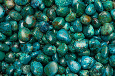 Tumbled Chrysocolla From Peru