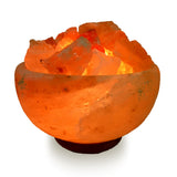 "Natural Himalayan Fire Bowl with Chunks Salt Lamp - Large 7"" Avg"