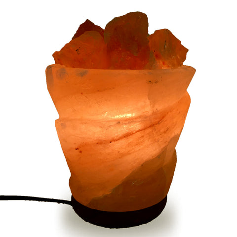 Natural Himalayan Funnel with Chunks Shape Salt Lamp