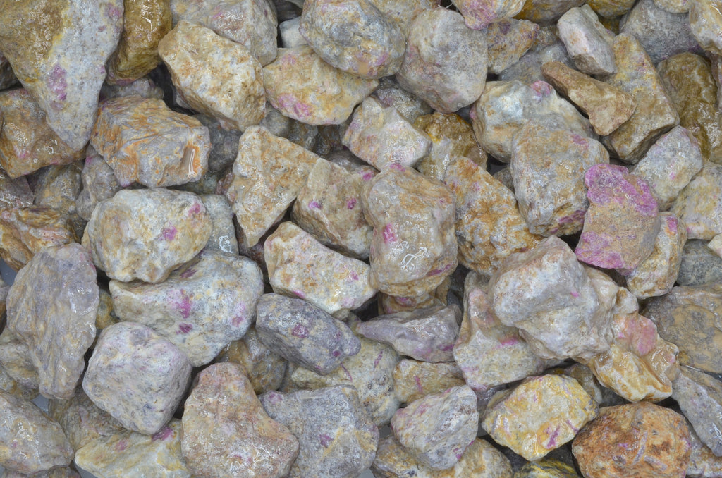 Ruby & Pink Sapphire Quartz Rough Stones from India
