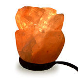 Natural Himalayan Rose Shaped Salt Lamp - 6""