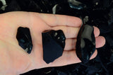 Smooth Black Obsidian Rough Stones from Mexico