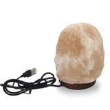 Natural Mini Himalayan USB LED Salt Lamp - Natural