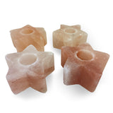Natural Himalayan Salt Star Tealight Candle Holder - Set of 4