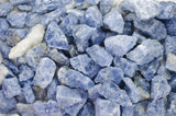 Blue Calcite Mine Run Rough - Madagascar