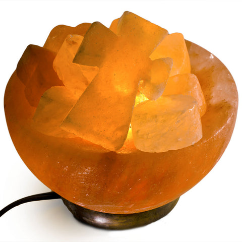 Natural Himalayan Firebowl With Balls Shape Salt Lamp