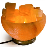 Natural Himalayan Firebowl With Shapes Salt Lamp