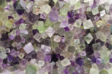 Natural Unpolished Rainbow Fluorite Octahedron Crystals from China-small size