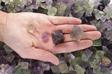 Natural Unpolished Fluorite Octahedron Crystals from China