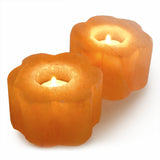Natural Himalayan Flower Shaped Salt Candle Holder - One Piece
