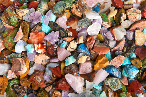 "3 lbs Rough Madagascar Stone Mix - Small - 0.75"" to 1.25"" Avg."