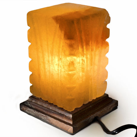 Natural Himalayan Cube Shape Salt Lamp
