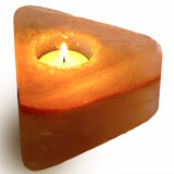 Natural Himalayan Triangle Shaped Salt Candle Holder - Set of Four