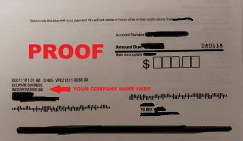 usa telephone number with utility bill proof delaware business incorporators inc