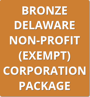 Bronze Delaware Non-Profit (Exempt) Corporation Package Order Form
