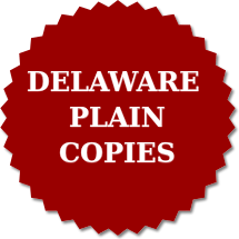 Delaware Plain Copies Order Form