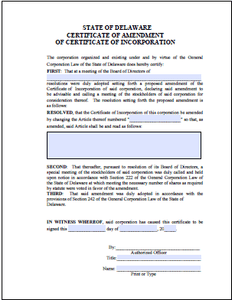 Certificate of Amendment - Delaware Business Incorporators, Inc.