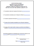 Certificate of Conversion - Delaware Business Incorporators, Inc.
