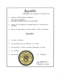 Delaware Apostille Service - Delaware Business Incorporators, Inc.