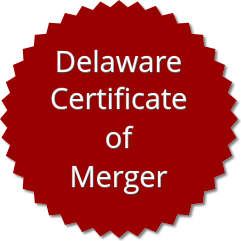 Delaware Certificate Of Merger Order Form
