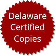 Delaware Certified Copies Order Form