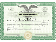 LLC or Corporation Certificates Order Form