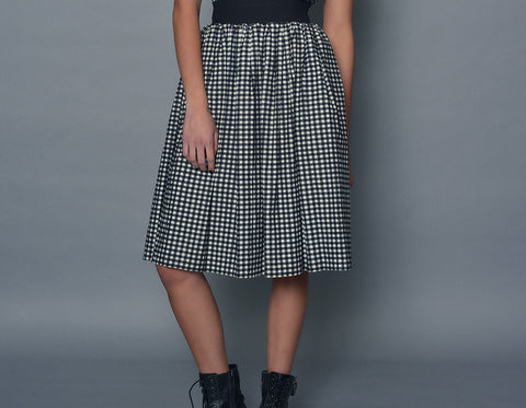 Small Gingham A-line Skirt