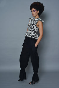 Black Linen Drawstring Pants
