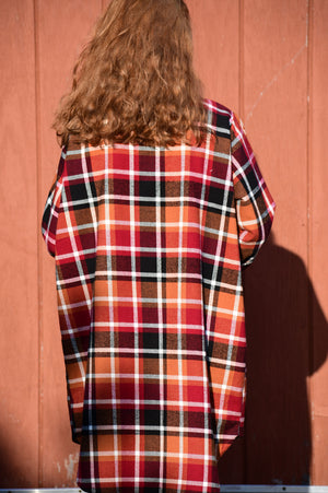 Orange & Black Plaid Tunic