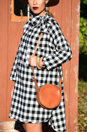 Black & White Plaid Tunic