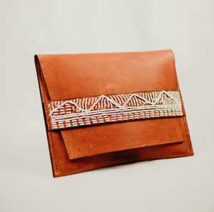 Taino Beaded Clutch (Tan)