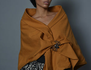 Gold Linen Shawl