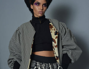 Medium Bouffant Sleeve Oversized Jacket