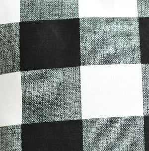 Plaid Black & White Pillow