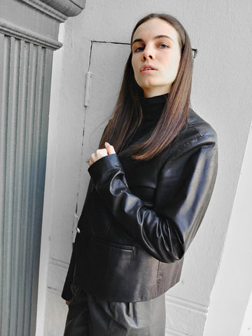 Black-leather-jacket