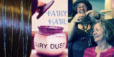 fairy hair extensions @ our 3rd thursday art show